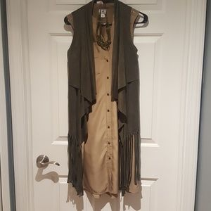 3pc Outfit Olive Taupe Necklace